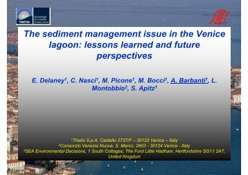 The sediment management issue in the Venice lagoon ... - SedNet
