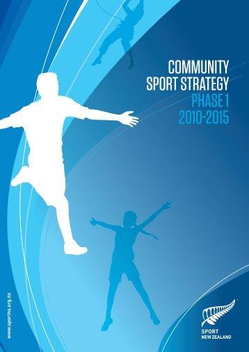 Community Sport Strategy - Sport New Zealand