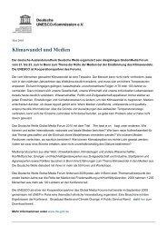 Klimawandel und Medien - Unesco