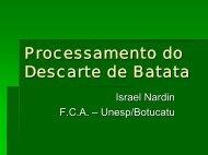 Processamento do Descarte de Batata - Associação Brasileira da ...