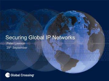 Securing Global IP Networks - SwiNOG
