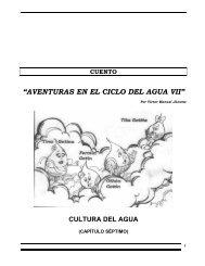 """""""AVENTURAS EN EL CICLO DEL AGUA"""" - Portal Cuencas"""