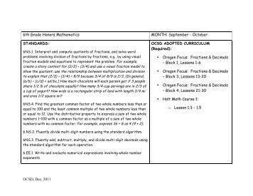 2013 14 5th grade math curriculum map standards quarter
