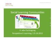 Social Learning Communities -Zentrale ... - wbv-Fachtagung