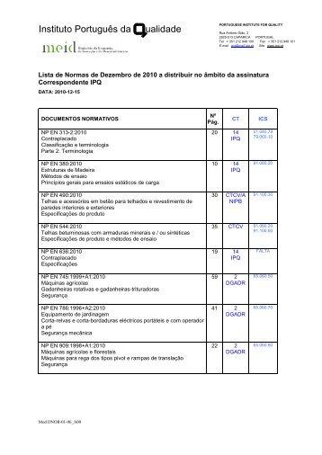 Normas de Dezembro - IPQ