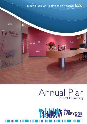 Annual Plan 2012/13 - Sandwell & West Birmingham Hospitals