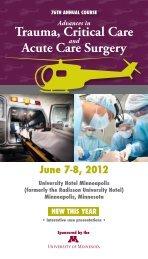 Brochure - University of Minnesota Continuing Medical Education