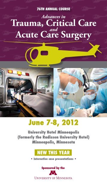 Brochure - University of Minnesota Continuing Medical Education