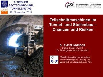 Chancen und Risiken - Dr. Plinninger Geotechnik