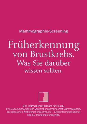 """Broschüre """"Mammographie-Screening"""" - Deutsche Krebshilfe eV"""