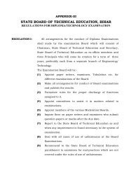Regulations for Diploma/Technology Examination - SBTE Home Page