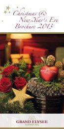 Christmas & New Year's Eve Brochure 2013 - Grand Elysée Hotel ...