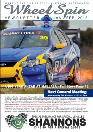 February 2013 - Sporting Car Club of SA