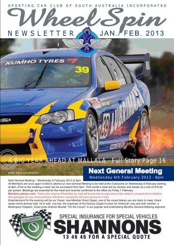 February 2013 - Sporting Car Club of SA
