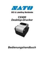 SATO cx400 handbuch - Sato Etikettendrucker