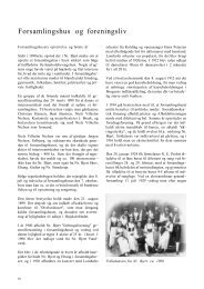Forsamlingshus og foreningsliv