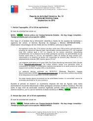 Reporte de Actividad Volcánica No. 12 - Sernageomin