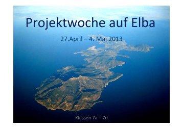 Projektwoche auf Elba