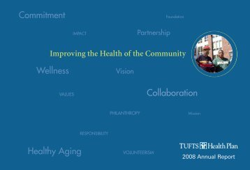 Commitment Wellness Collaboration Healthy Aging - Tufts Health ...