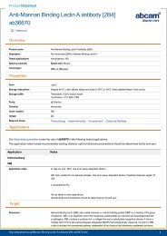 Anti-Mannan Binding Lectin A antibody [2B4] (ab36670) - Abcam
