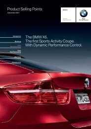 Product Selling Points The BMW X6. The first Sports Activity ... - Invelt
