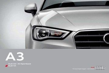 Brosjyre Audi A3/A3 Sportback/S3