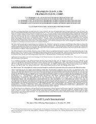 Merrill Lynch International - Irish Stock Exchange