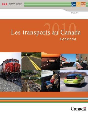 Tableaux de l'addenda - Transports Canada