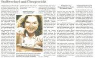 Sanguinum Pressebericht - Stoffwechsel und Übergewicht - Feb 2013