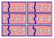 Doubles to 20 Jigsaw Doubles to 20 Jigsaw ... - Waikanae School