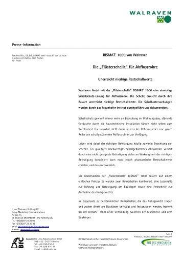 """Die """"Flüsterschelle"""" für Abflussrohre - Waschzettel.de"""