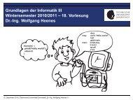 18. Vorlesung Dr.-Ing. Wolfgang Heenes - Ra.informatik.tu ...