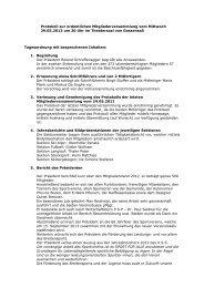 Protokoll der Mitgliederversammlung - ASV Gossensass