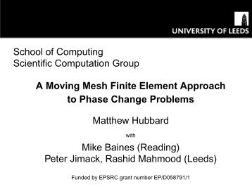 A Moving Mesh Finite Element Approach to Phase Change Problems