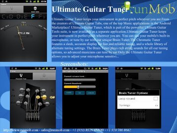 Ultimate Guitar Tuner - RunMob