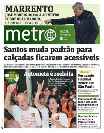 Santos muda padrão para calçadas ficarem acessíveis - Metro