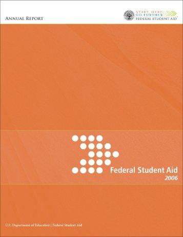 Dear Federal Student Aid Colleagues, Partners and Customers