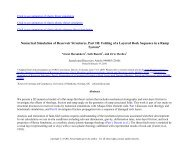 Numerical Simulation of Reservoir Structures, Part III: Folding of a ...