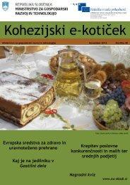 Kohezijski e-kotiček - Strukturni skladi EU v Sloveniji