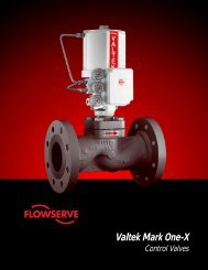 Valtek Mark One-X - Flowserve Corporation