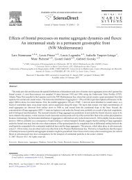 Effects of frontal processes on marine aggregate dynamics ... - Ifremer