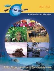 Validité des prix du 26 octobre 2007 au 26 ... - Voyages Cassis