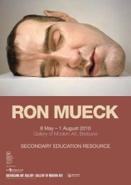 SecondAry edUcATIon reSoUrce - Queensland Art Gallery