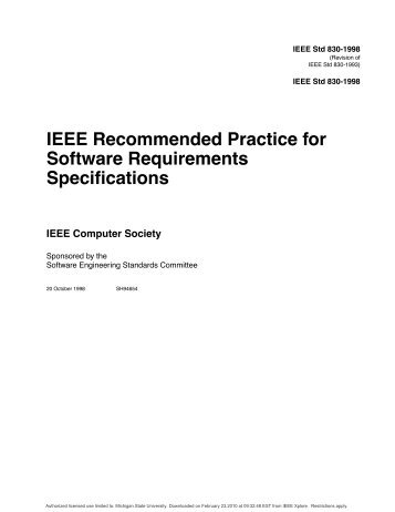 Software Requirements Specification Document Template - Radford ...