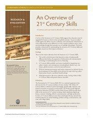 An Overview of 21st Century Skills - Kamehameha Schools