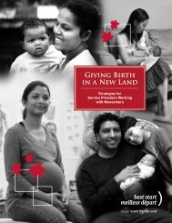 Giving Birth in a New Land – Strategies for Service Providers
