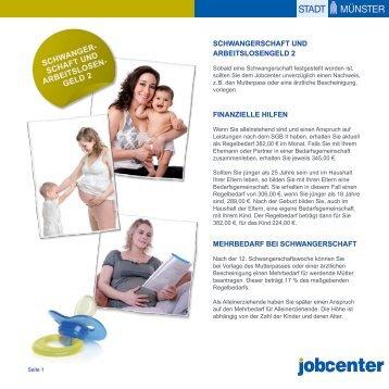 Schwangerschaft und Arbeitslosengeld 2 - zur Homepage der Stadt ...