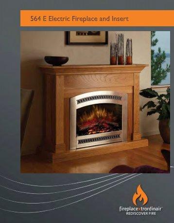 564 E Electric Fireplace and Insert - The Firebird