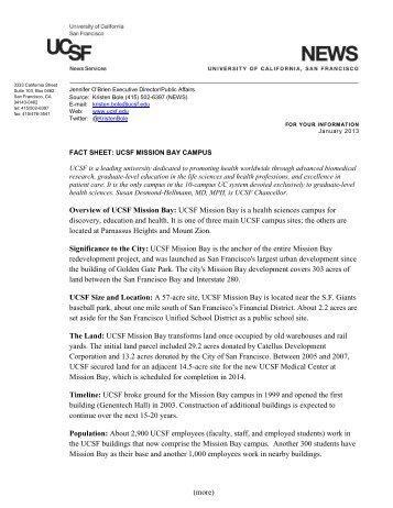 Mission Bay Campus Fact Sheet [PDF] - University of California, San ...