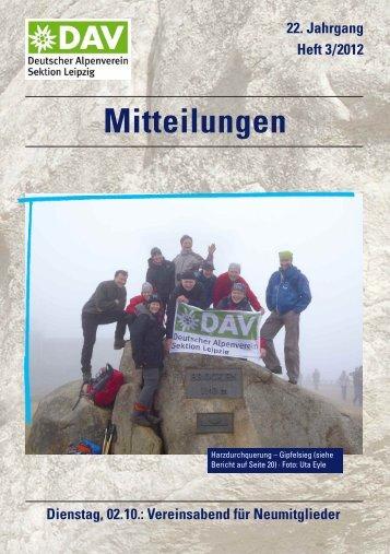 22. Jahrgang Heft 3/2012 Mitteilungen